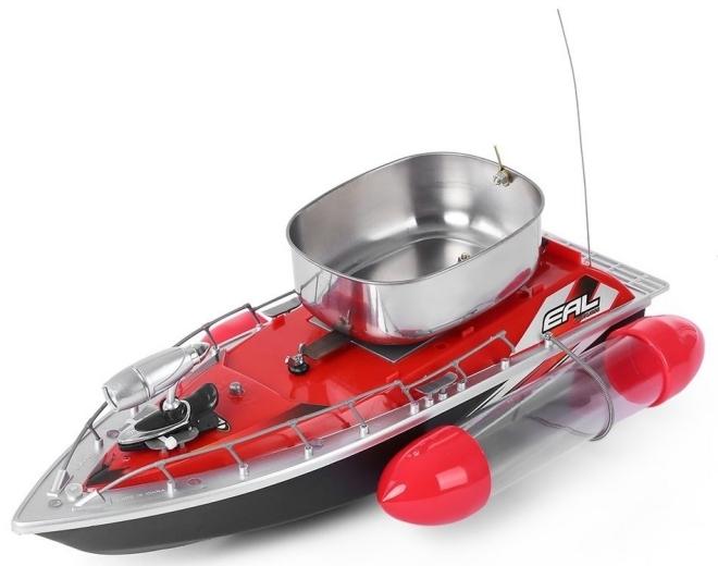 Радиоуправляемый красный катер для рыбалки